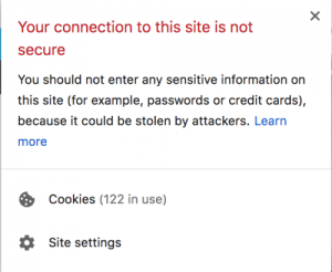 Not Secure Old Warning Chrome